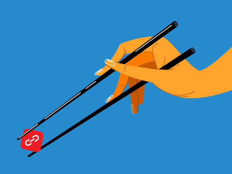 Icon noodles-2 chopsticks chopstick hand vector art vector illustration icons icon