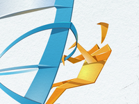 Paper windsurfer