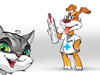 Mascots for veterinary service