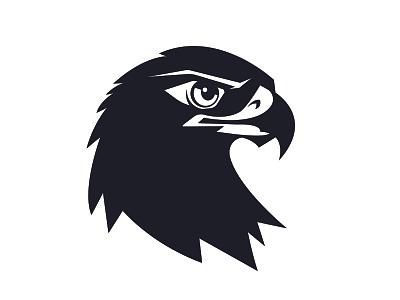 Eagle head beak raptor predator header face symbol bird logo vector art animal vector illustration falcon eagle