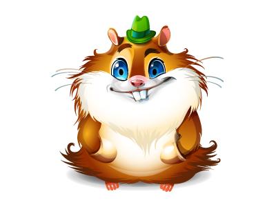 Hamster character hamster character animal fun mascot