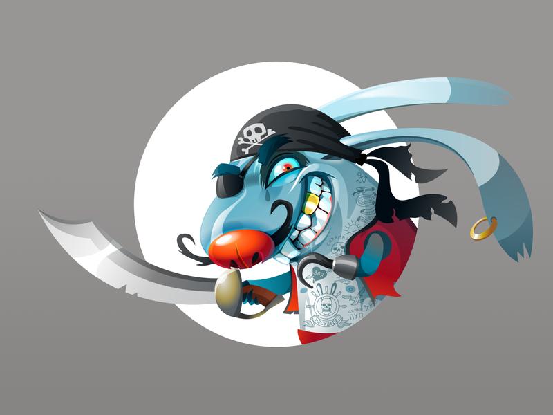 Rabbit NoWay Pirate или Заяц Несудьбы-пират character пират персонаж заяцнесудьбы заяц pirate tattoo vectorart vector rabbitbadluck rabbitnoway rabbit