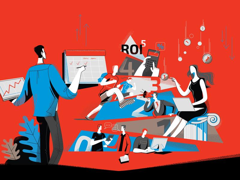 Illustration for corporative blog illustration digital business art business business illustration people illustration