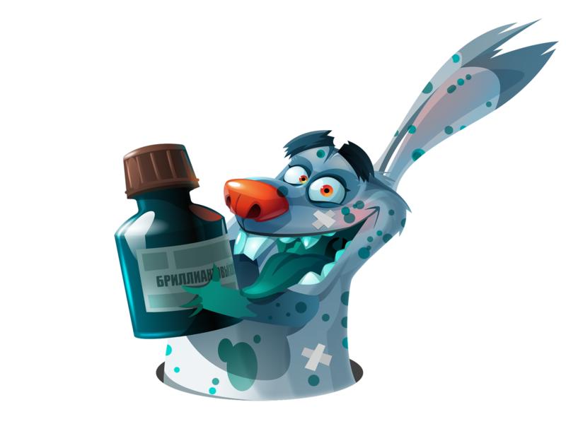 Chickenpox illustration mascot ветрянка персонаж заяцнесудьбы заяц rabbit rabbitnoway green vectorart vector characterart character chickenpox