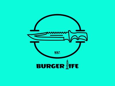 Burger knife 5 artist design illustrator burger logo burger popart art illustration art