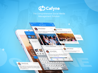 Cafyne Mobile App Design (Social Media Management)