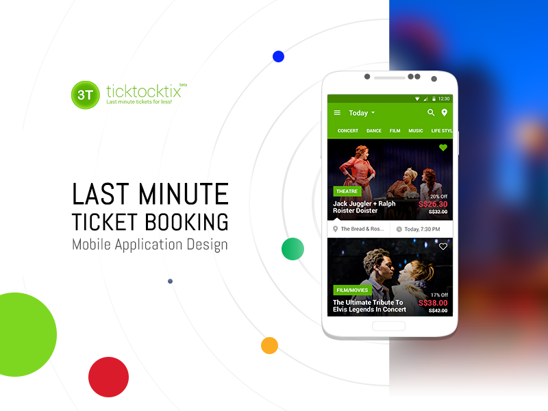 ticktocktix ui ux event ticket booking mobile app design by amit