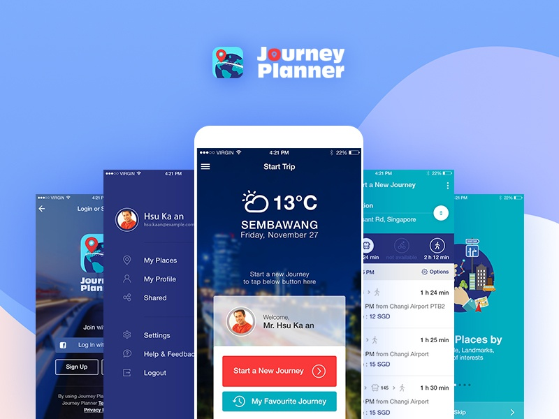 Journey Planner - Smart Trip Mobile App Design - UI/UX by ... on map wedding, map travel, map project,