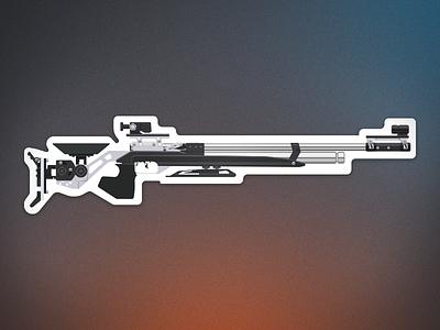 Olympic 10m air rifle (Feinwerkbau) olympics stickermule sticker futuristic sci fi weapon gun airsoft rifle air