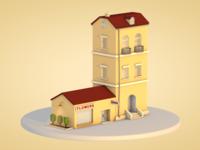 Low Poly Apartment & Shop