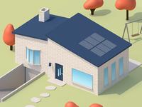 Simple isometric house