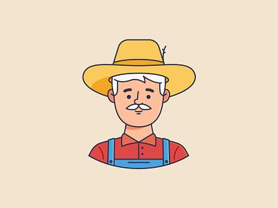 Farmer man and woman icon vector illustration countryside hat lineart avatar design line shutterstock download ai adobestock illustration vector icon market farmer farm
