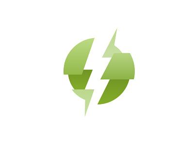 Logo Concept for a bolt branding design artwork vector illustrator illustration creative branding perspective 3d logochallenge logodesign graphicdesign logo green gradient thor lightning thunder bolt