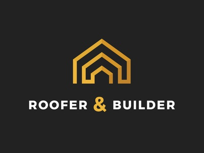 Roofer and Builder - Construction Company Logo