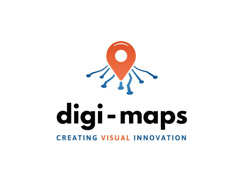 Interactive Maps Company Logo gradient logo logochallenge technology logo minimal tech modern dailylogochallenge orange blue gps interactive technology maps