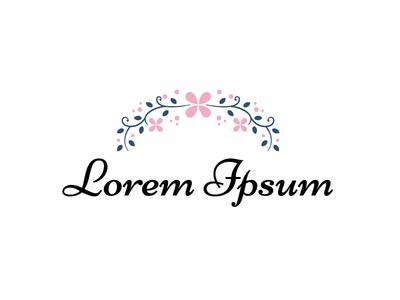Flower Garland Logo Concept