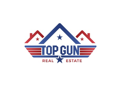 Real Estate Logo with the Top Gun Movie Logo Concept