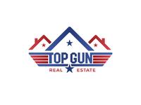Real Estate Logo with the Top Gun Movie Logo Concept