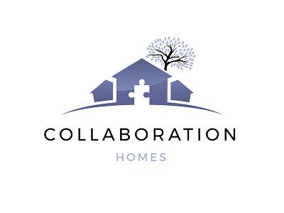 Logo Concept for a Home Builder Cimpany illustration logochallenge logo minimal dailylogochallenge graphic design logo design puzzle leaf leaves tree house logo home logo house home