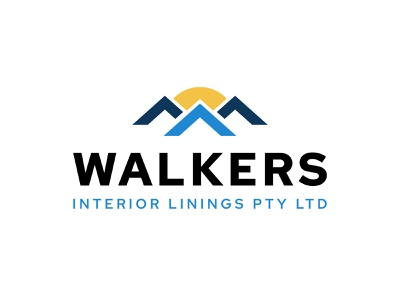Logo Concept for a Real Estate Firm - Walkers Interior clean blue ui branding simple illustrator minimal dailylogochallenge typography interior sun roof building house home real estate