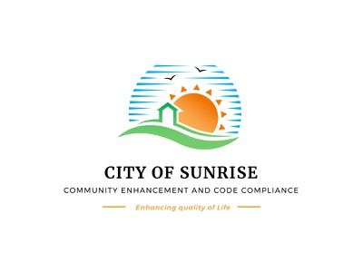 Logo Concept for a Government Agency logochallenge dailylogochallenge simple minimal circular nature scenery blue birds sky rays orange green hut house home sun sunrise city