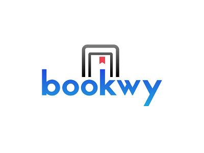 Logo Concept for an eBook Business Website design illustrator simple logo dailylogochallenge bookmark tablet red blue minimal ebook