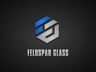 Logo Concept for a Metal Fabrication Company simple design logochallenge illustrator grey blue black hexagon logo reflecting gradient geometric hexagon bold glass typography fabrication metal