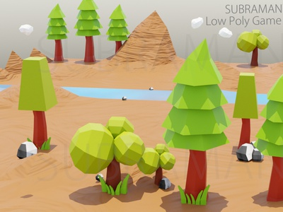 low poly Game Background 3d modeling printable game background 3d asset low poly tree 3d model low poly model low poly
