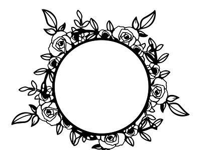Circle Frame vector vector empty frame frame template floral frame circle frame frame