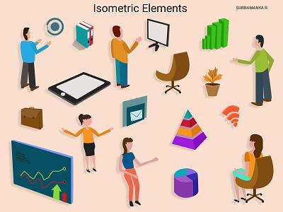 istometric elements isometry app illustration web illustration vectorart vector isometric design isometric illustration isometric art isometric