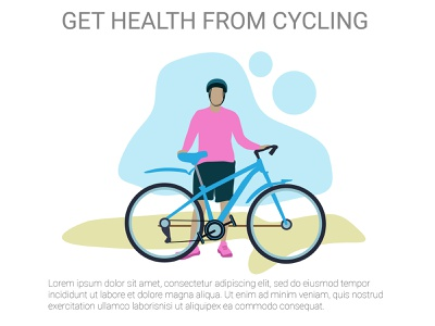 Get health from cycle flat illustration vector illustrations design flat icon flat design vector illustration vector art vector health cycling flat illustration website flatdesign