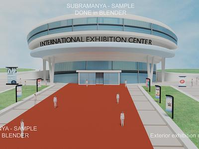 exterior exhibition Design 3D design designs lowpoly 3d model exhibition center exhibition design blender3d blender design exterior exhibition