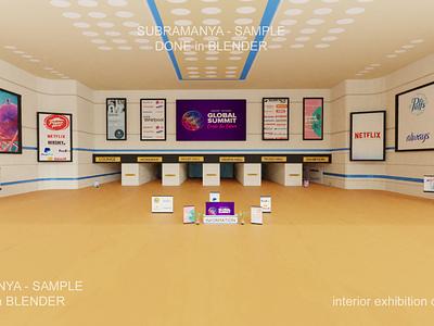 Interior exhibition design 3D design interior lowpoly blender 3d art 3d