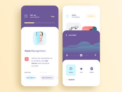 Portfolio vector design app ui