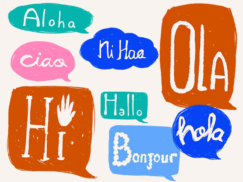 Hi hallo poster slogan graphic design hello typography design art print illustration art