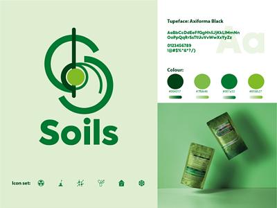 Soils logo brand icon icon fertilizer eco fertilezer nature eco green soil vector font logotype logos typography design logo packing brand identity branding logo