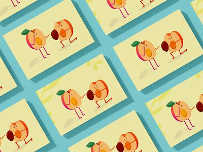 Postcard love story 2021 illustration lovely illustration lovely love apricot ecology brand illustration art texture nature art blue illustration yellow design vector