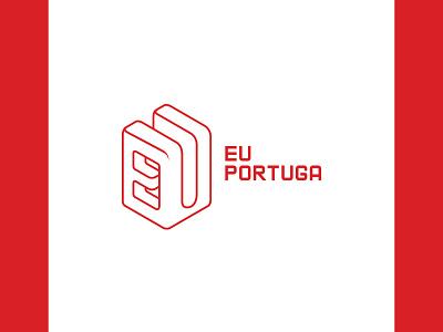 Eu Portuga - Logo Design vector brand branding design logotype braga portugal branding brasil brazil red graphic design graphic design logo design logo