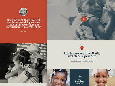 Website for Nonprofit Organization | Upstream website drupal nonprofit charity donation sponsor children children haiti not for profit non profit web design