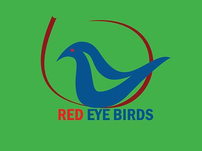 Red Eye Birds art graphic design flat minimal icon vector branding logo illustration design