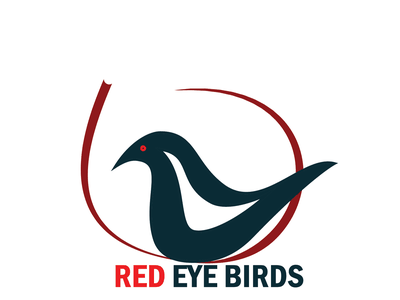 RED EYE BIRDS v2 vector minimal logo illustration icon graphic design flat design branding art