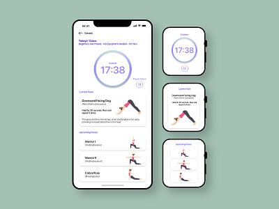 Yoga App - #dailyui041 workout tracker meditation yoga app yoga appdesign uiux design adobe adobe xd dailyuichallenge dailyui ui