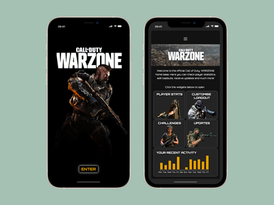 WARZONE - #dailyui047 warzone call of duty activity feed activity dailyui047 design ux adobe adobe xd dailyuichallenge dailyui ui