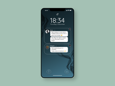 Notifications - #dailyui049 unlock redesign iphone notifications dailyui049 design ux adobe adobe xd dailyuichallenge dailyui ui
