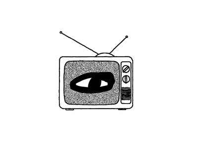 Public Access weird illustration branding simple logo ui glitch animated video