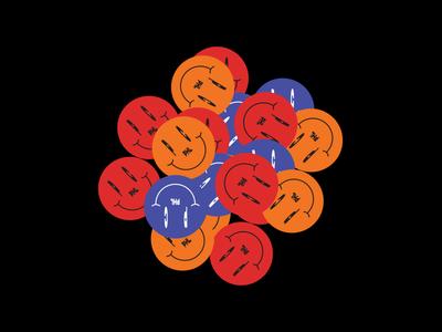 🙃 blue branding vector logo badge sticker philadelphia custom type simple illustration