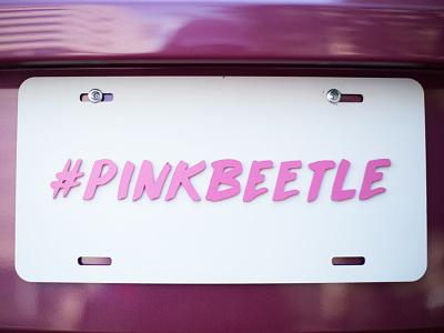#PB spraypaint industrial design 5d photography car brush lettering hashtag pink volkswagen vw