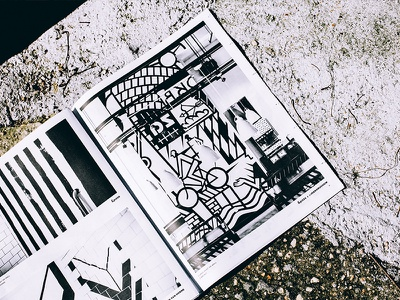 &pizza Art Catalogue 5d canon gotham lo-fi simple newsprint black and white photography layout print art publication