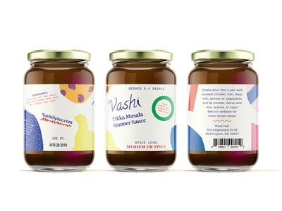 Vashi graphik tiempos monospace patterns playful packaging sauce
