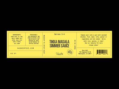 Vashi Redux indian sauce label packaging minimal simple monospace tungsten label design